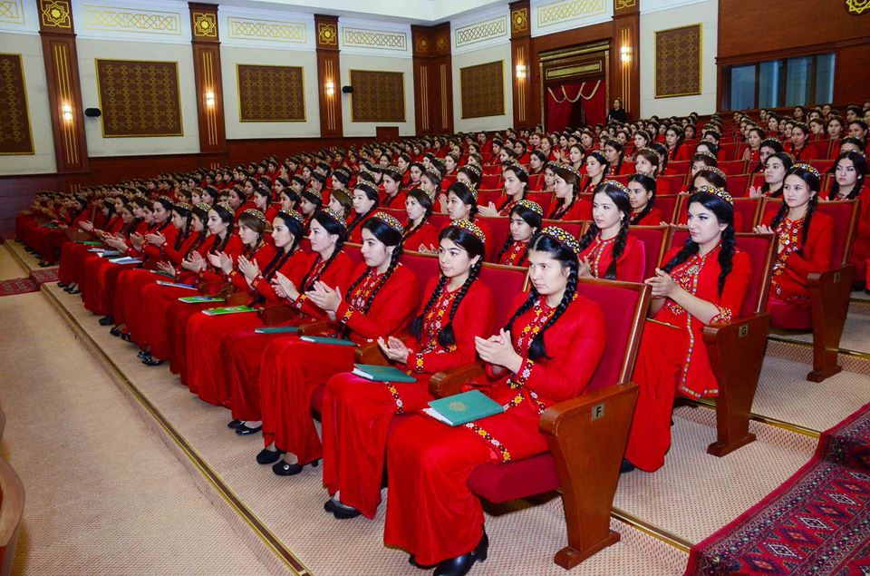 Female Students in Turkmenistan