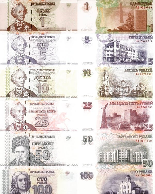 The Transnistria Ruble