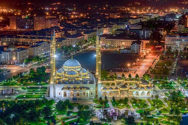 Mosque in Grozny, Chechnya