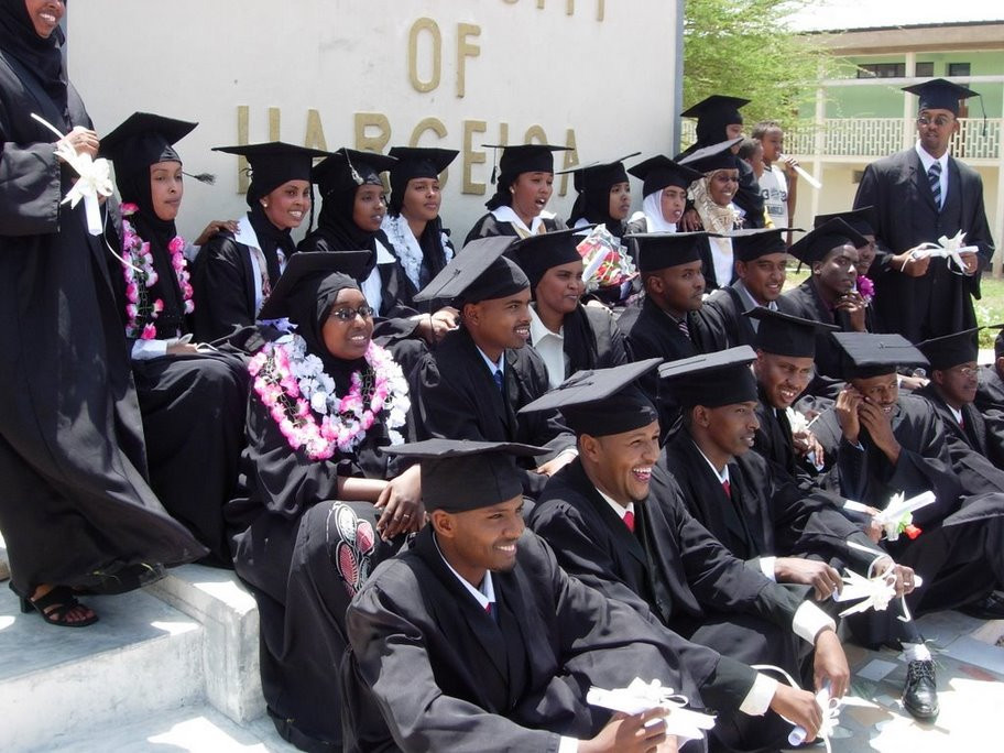 Graduates, including women, at University of Hargeisa