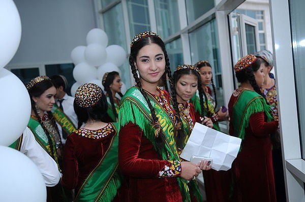 Female Student in Turkmenistan