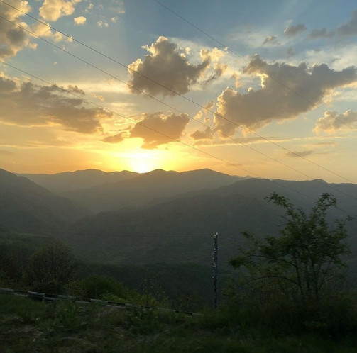 Sunset in Artsakh