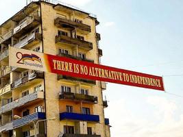 Independence Sign in Nagorno Karabakh