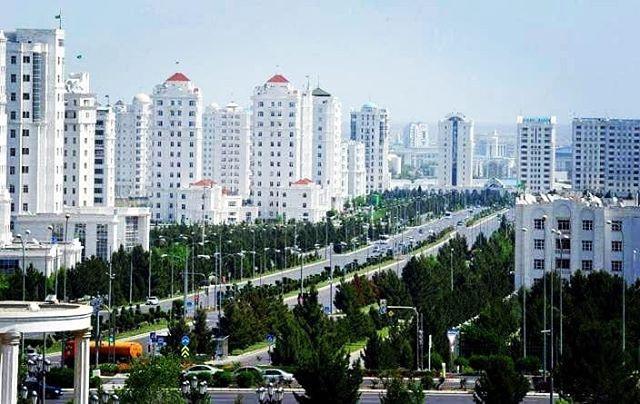 Street in Ashgabat, Turkmenistan