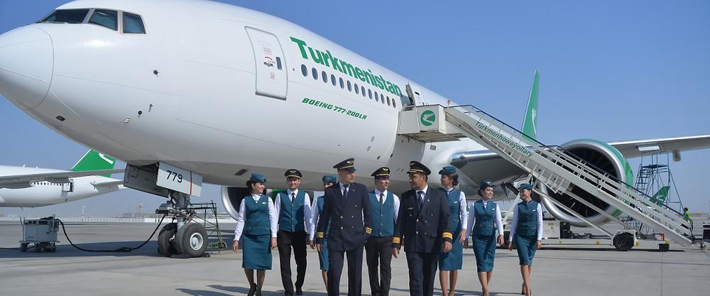 Turkmenistan Airlines Crew