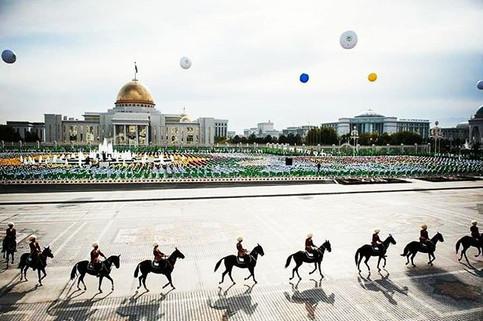 Independence Square in Ashgabat