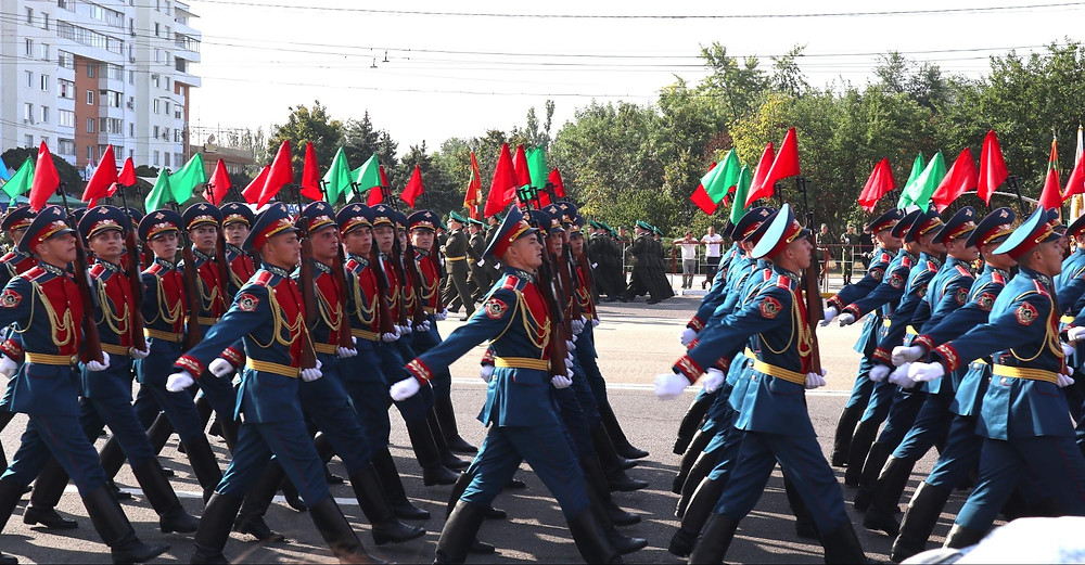 Military Parade in Tiraspol, Transnistria