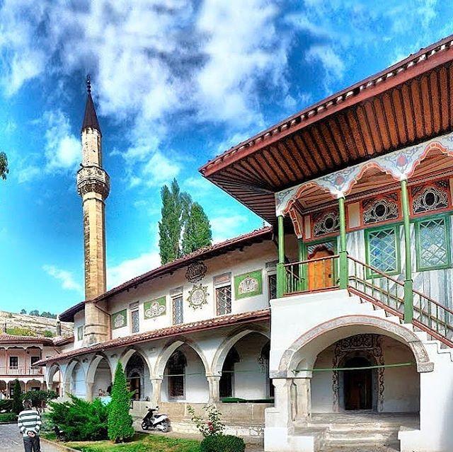 A Crimean Tatar mosque in Crimea