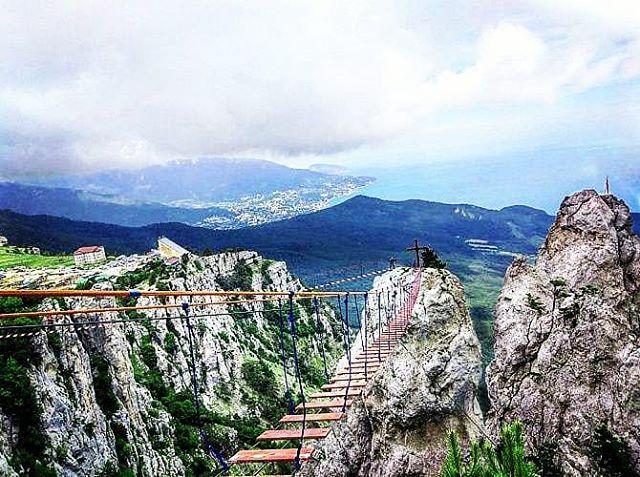 The Black Sea coast from the Yalta, Crimea, Russia