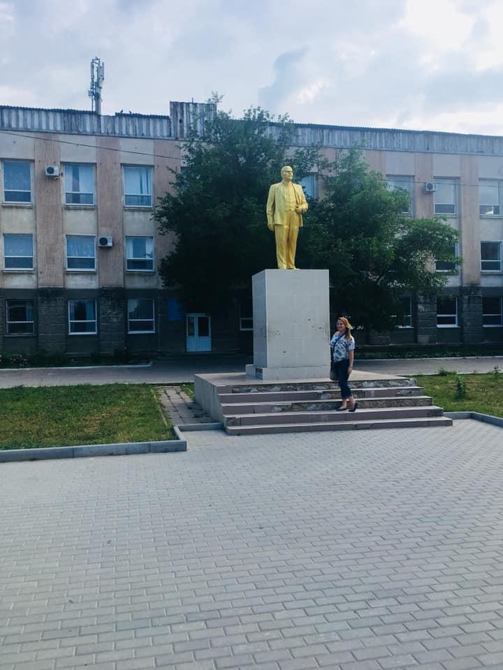Golden Statue of Lenin in Gagauzia