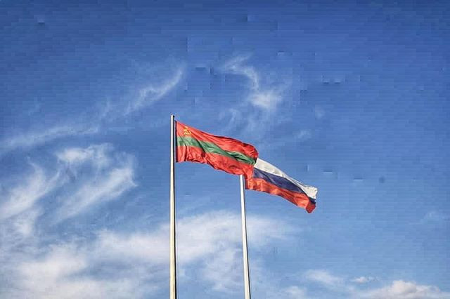 Russia and Transnistria Flags