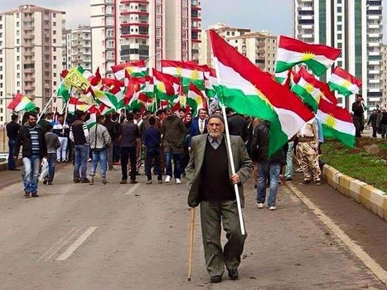 Kurdish Flags in Dohuk