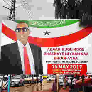 Elections campaign sign in Somaliland