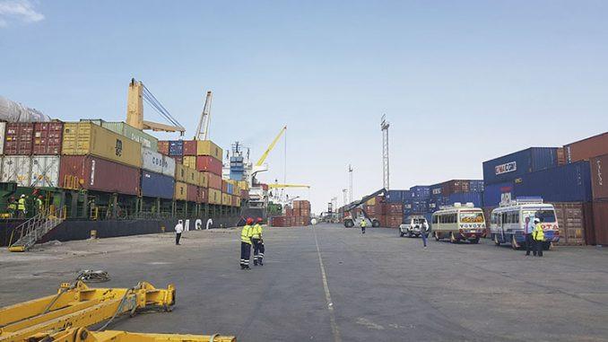 Port of Berbera in Somaliland