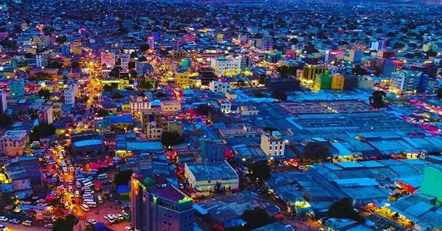 Hargeisa, the capital of the Republic of Somaliland at night
