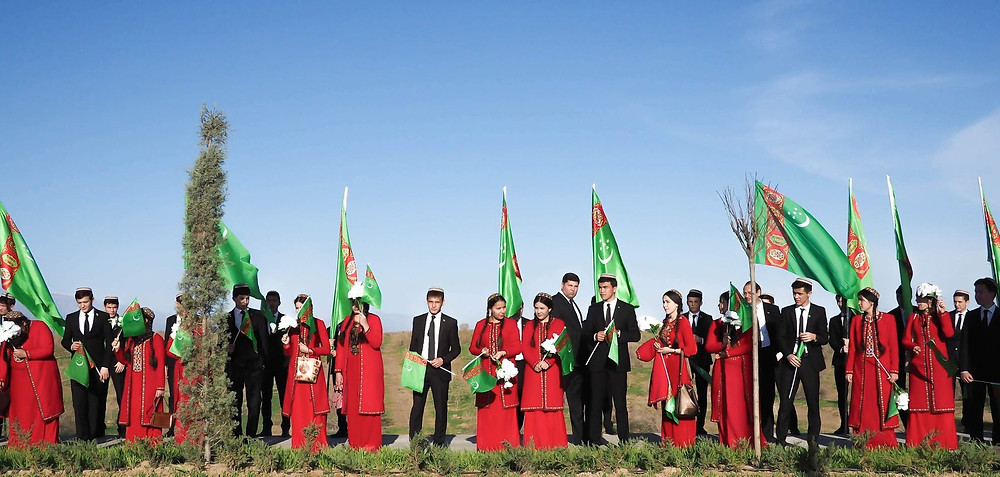 Turkmen Students in Uniform