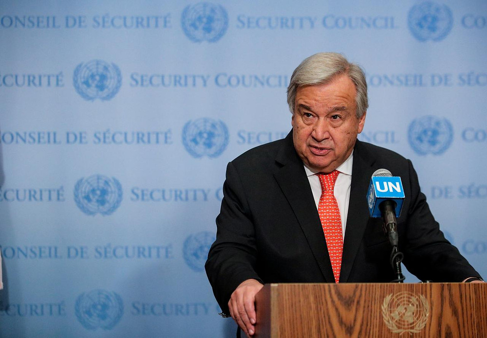 UN Secretary General Antonia Guterres