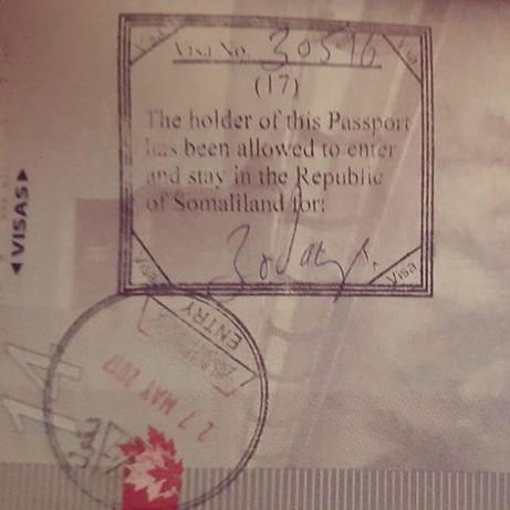 Somaliland Passport Stamp
