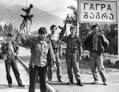 Abkhaz Soldiers in Gagra