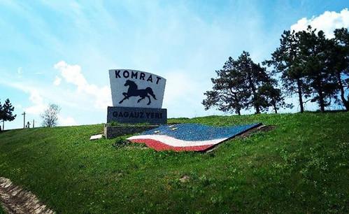 Sign for Komrat Gagauzia