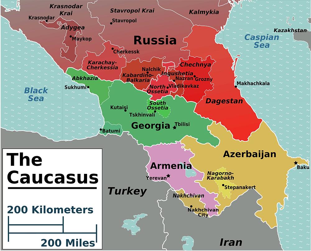 Map of the Caucasus Region