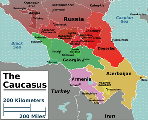 Map of the Caucasus Region