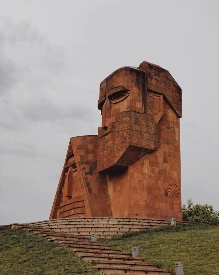 We Are the Mountains Monument in Stepanakert, Artsakh