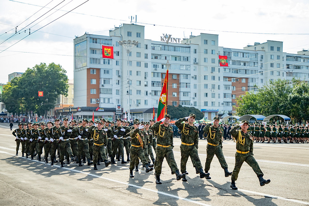 Military Parade in Tiraspol, Transnistria