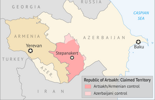Map Depicting Artsakh