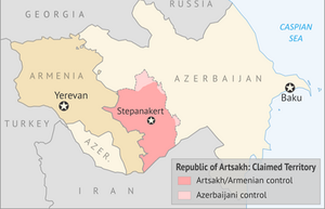 Map of Nagorno-Karabakh