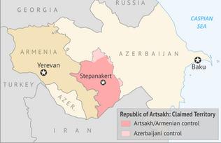 Map Depicting Artsakh