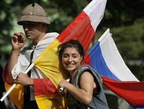 Russian & Ossetian Flags