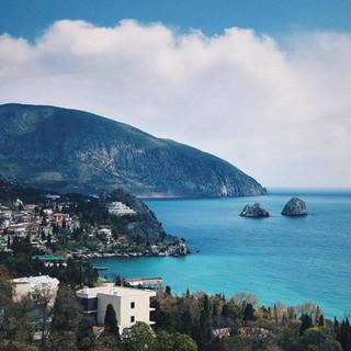Coastline in Yalta, Crimea