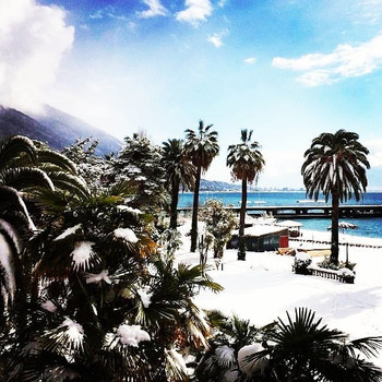 Coastal Abkhazia during winter