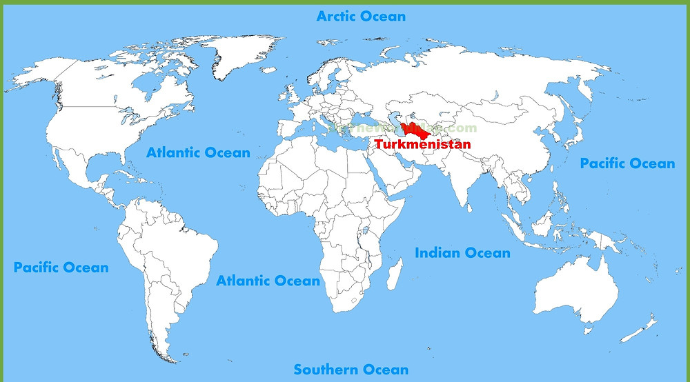 Map Depicting Turkmenistan
