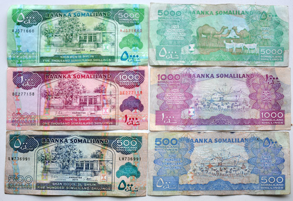 The Somaliland Shilling unrecognized currency