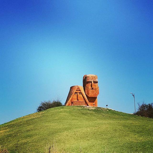 Tatik and Papik monument in Artsakh (Nagorno-Karabakh)