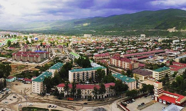View of the capital of South Ossetia, Tskhinval
