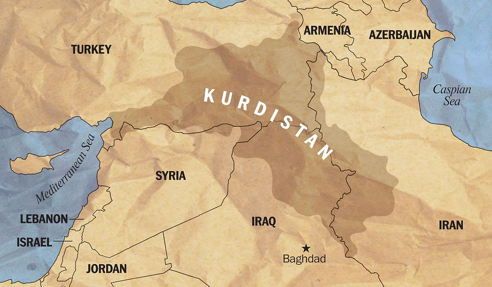 Greater Kurdistan map