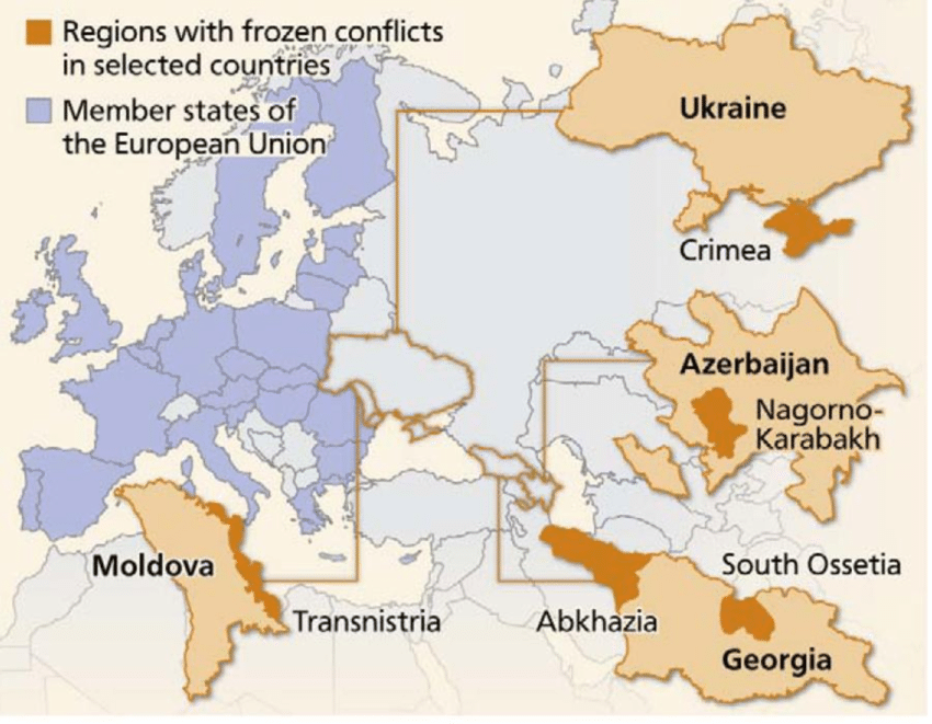 Map of Post-Soviet Frozen Conflicts