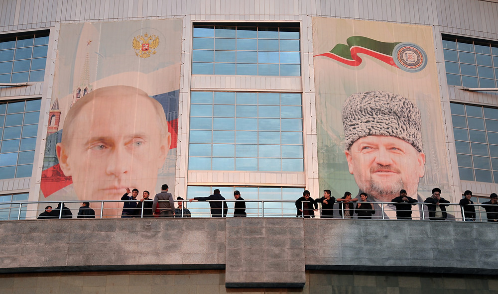 Russian and Chechen leaders