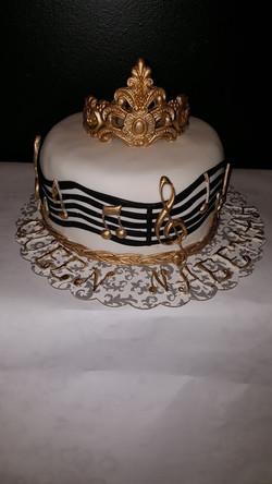 Crown Music Cake