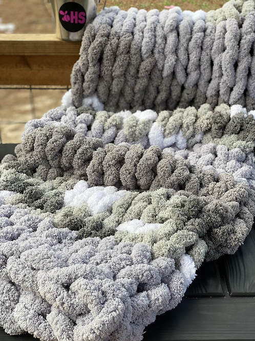 Jumbo Chenille-Throw Blanket