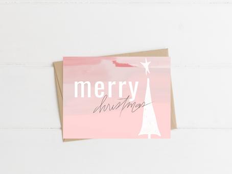 Free Printable Bright and Fun Christmas Card