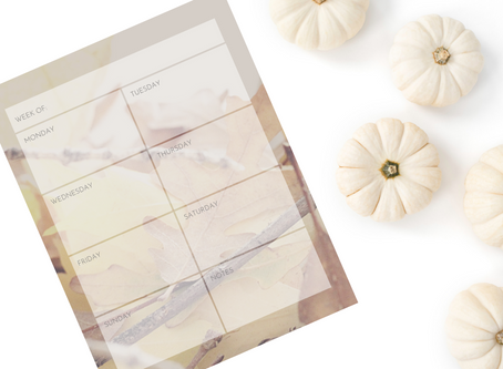 Printable Weekly Calendar: Autumn Leaves
