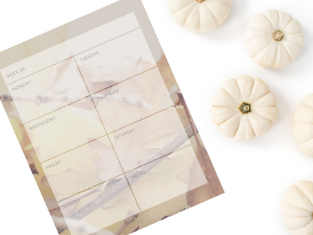 Printable Weekly Calendar: Autumn Leaves