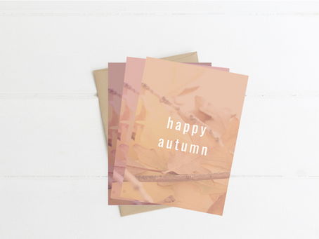 Printable Fall Greeting Cards: Happy Autumn