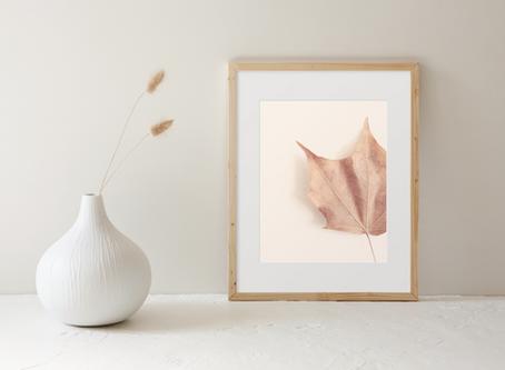 Minimalist Leaf Photography Art Print