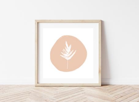 Leaf Sketch 8 x 8 Art Print