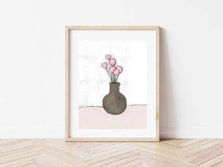 Free Printable Abstract Floral Art Print